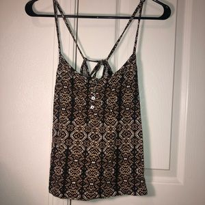 forever 21 brown, black spaghetti strap tank top